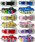 DIY Personalized Name Pet Dog Cat Collars Metallic PU leather--no letters&charms