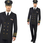 Mens Navy Fancy Dress Costume Naval Officer Captain Military Outfit Smiffys