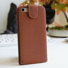 NEW LUXURY VINATGE FAUX SUEDE LEATHER FLIP CASE COVER FOR IPHONE 5 & 5S SE