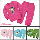 Cute Kids Sports Wear Baby Clothing Outfit Girls Sports Suit Clothes 1-5Y