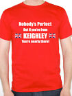 NOBODY'S PERFECT BUT IF YOU'RE FROM KEIGHLEY - Yorkshire Themed Mens T-Shirt