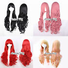 80CM Colorful Lolita Long Curly Stylish Anime Cosplay Hair Full Wig + Wig Cap
