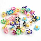 20-200Pcs Wholesale Mix Colors Flower Fimo Polymer Clay Spacer Charms Beads 15mm