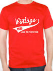 VINTAGE 1970 AGED TO PERFECTION - Birth Year /Birthday Gift Themed Men's T-Shirt