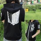 Black Anime Attack on Titan Cosplay Hoodie Investigation Corps Hooded Sweater