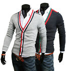 ZA6163 New Mens Fashion Casual Slim Fit Long Sleeve Sweaters Shirts BLACK,GREY