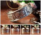 Beautiful ! 5 style Unique Tibetan Tibet Silver Lucky Totem Bangle Cuff Bracelet