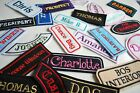 FELT Embroidered Personalised Name Patch Badge Biker Kart Racing Iron Sew  On