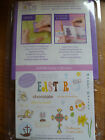 SEE D'S RUBBER STAMP SET MAT BLOCK 24 HAPPY EASTER BUNNY EGG CROSS CHICK FLOWER