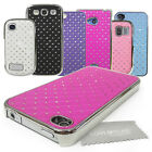 Diamond Bling with Chrome Trim HARD CASE Cover with LMC Screen Cloth