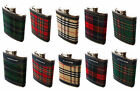 Tartan Hip Flask, Various Tartans and Designs Available!