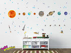 Large Solar System Planets with names, rockets and lots of stars