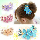 womens fashion Floral design Alloy Rhinestone crystal Barrette Hair Clip Comb