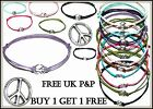 Peace Sign Hippy Karma Friendship Wish Charm Bracelet FREE P&P BUY1 GET 1 FREE
