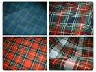 "100% Brushed Cotton Soft Tartan Fabric - 150cm (59"") wide- 4 Styles inc Stewart."