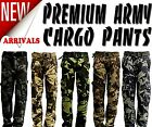 New Men's Premium Casual Military Army Camouflage Camo Cargo Combat Work Pants