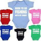 Baby Clothes Born Fishing Angling Daddy Bodysuit Vest Shower Gifts Boys Girls