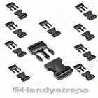 10 x 25 mm Black Plastic Side Release Buckles for webbing  Quick Release Buckles