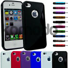 GRIP S-LINE GEL CASE COVER FREE STYLUS & SCREEN PROTECTOR FITS APPLE IPHONE 4 4S