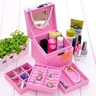 4 Colors Girls Childrens Velvet makeup and Jewelry Box Case Organizer Storage