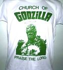 LONG SLEEVE CHURCH OF GODZILLA HORROR FILM B MOVIE MENS T SHIRT