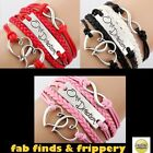 One Direction 1D ★ Braided Bracelet Friendship Infinity Love ★ 3 colour choices