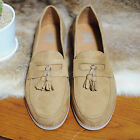Men's shoes Casual dress BEIGE tassel loafer formal shoe slip on Trainers UK sz
