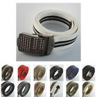 Military Tough Cross Stainless Steel Buckle Men Women Webbing Waist Canvas Belt