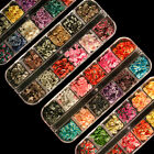 SALE STORE £1! 480pc Fimo Sliced Nail Art Cane with Box - Assorted Designs