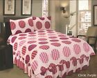 CIRCLE PURPLE COMPLETE BEDDING SET | DUVET COVER PILLOWCASES VALENCE SHEET