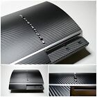 For PS3 Playstation 3 fat 3D Textured CARBON Fibre Wrap Sticker Skin Cover Decal