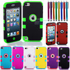 Blend Color Hybrid High Impact Case Cover For iPod Touch 5th Generation + Stylus
