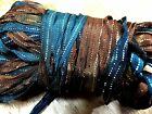 """Curly Ribbon Hand Dyed Trim 1/4"""" Rayon Metallic Thread 3yds Made in USA"""