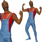 Mr T Fancy Dress Costume Official Baracus A Team Skin Suit Skinsuit Stag Outfit