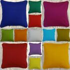 Pillow Case / Cushion Cover 100% Cotton Soft Plain Solid Colors Custom Size  image