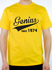 GENIUS SINCE 1974 - Birth Year / Birthday Gift / Novelty Themed Men's T-Shirt