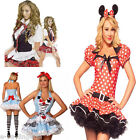Size 6 Women's Fancy Dress Costumes Various School Girl Alice Minnies Catsuit