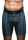 2 Pairs Mens Kickers BLUE Striped Boxer Shorts