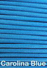 Paracord Type III 7 strand 550 parachute cord 1 10 20 50 100 1000 ft