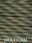 550 Paracord Type III 7 strand 550 parachute cord 1ft - 1000 ft