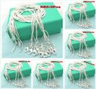 2014 SPECIAL PRICE Wholesale 10pcs 1mm Sterling 925Silver Snake chain Necklace
