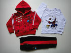 BNWT Spiderman Spider man 3pcs fleece hooded hoodie tracksuit outfit set Size2-8