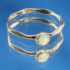 Precious Opal, Hammered Faceted band, Hand Crafted Sterling sizes 1 through 12