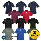 3 x Mens Razor Polo Shirt Top Sports Casual Club Team Business Office New P405MS