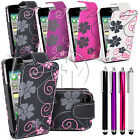 FLOWER LEATHER CASE FLIP CASE COVER POUCH FOR APPLE IPHONE 4 4S 4G