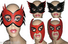 SEXY MASK FETISH DOMINATRIX CAT MASK PARTY 50 SHADES GREY STUD RED BLACK SILVER