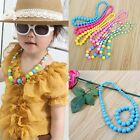 Girls Cartoon Colorful Bead Necklace Bracelet Set Jewelry kids Baby Gift