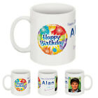 PERSONALISED BIRTHDAY MUG ANY YEAR & TEXT. CHOOSE FROM 5 DESIGNS .FREE GIFT BOX