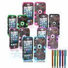 New Hybrid Camo Tree Triple Layer Case Cover For iPod Touch 5th Generation + Pen