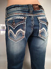 LA Idol Women's Sexy Jeans Skinny Stitching Flap Pocket  NEW Size 0- 15 (5253NR)